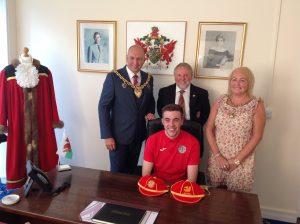 Wrexham Mayor Football Presentation