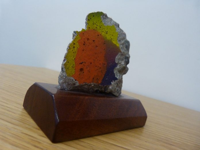 A piece of the Berlin Wall given to Wrexham