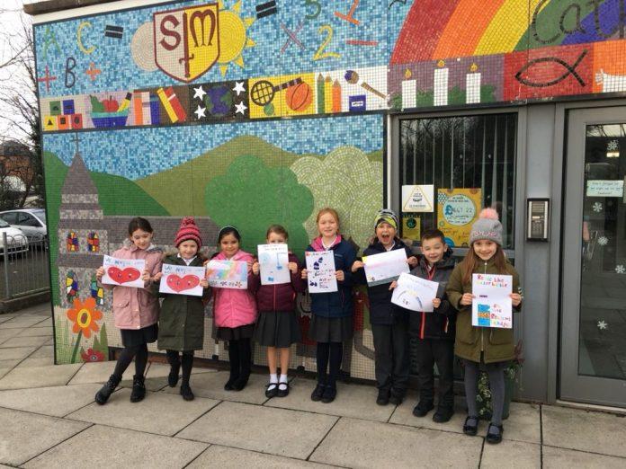 St Mary's school Recycling Wrexham