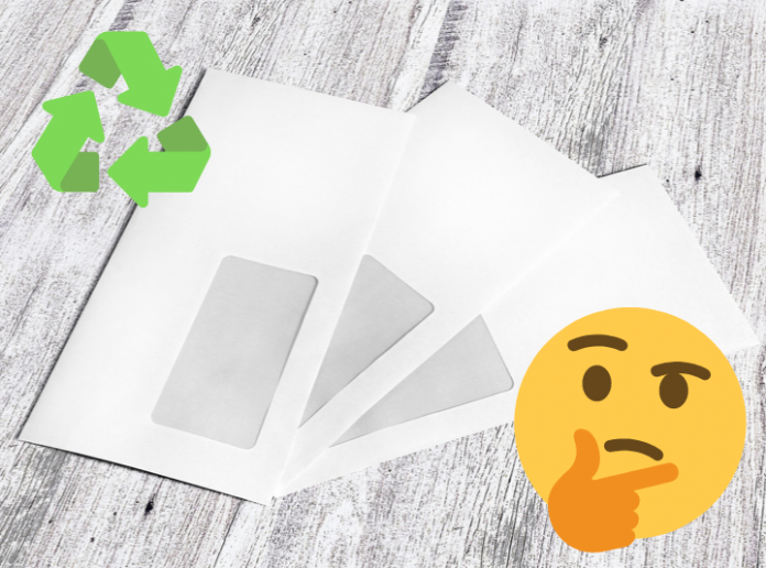 Recycling envelopes windows questions