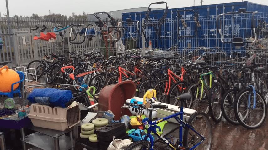 Reuse shop bikes cycling