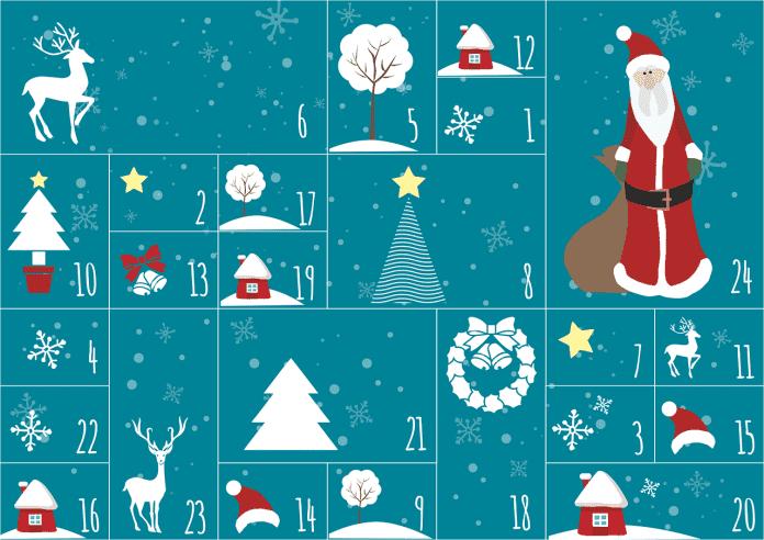 Advent Calendar Christmas Recycling