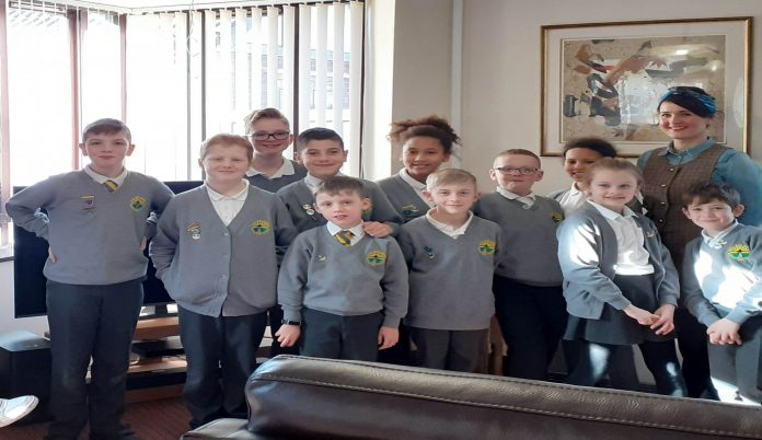 Wrexham pupils show retirement home residents how to stay safe online