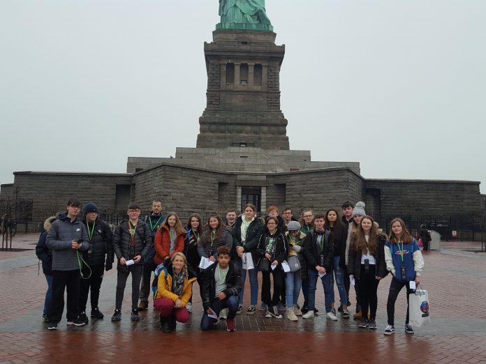 Wrexham students experience cultural 'trip of a lifetime' to New York Ysgol Bryn Alyn