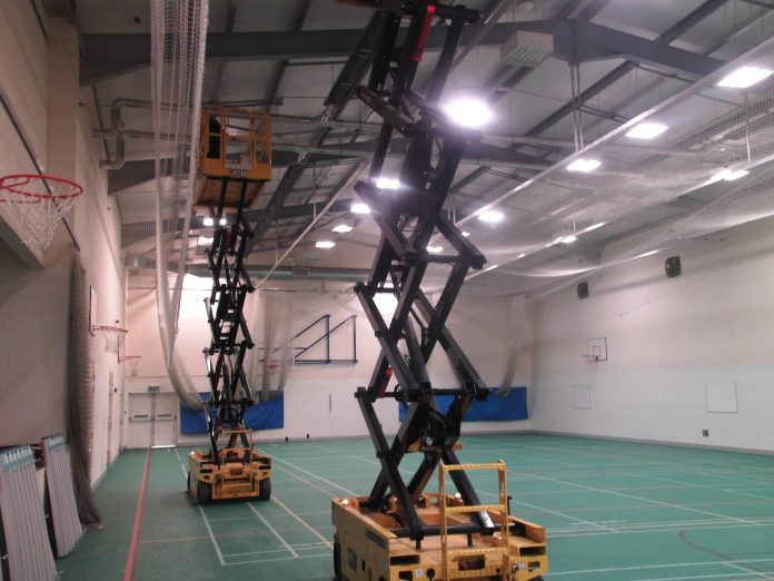 LED upgrade at school's dual-use sports centre is de-LIGHT-ful