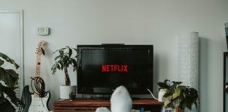 Someone watching Netflix at home