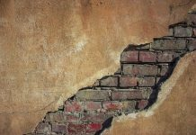 damaged wall