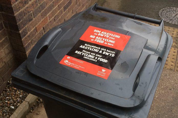 Bin Recycling Stickers