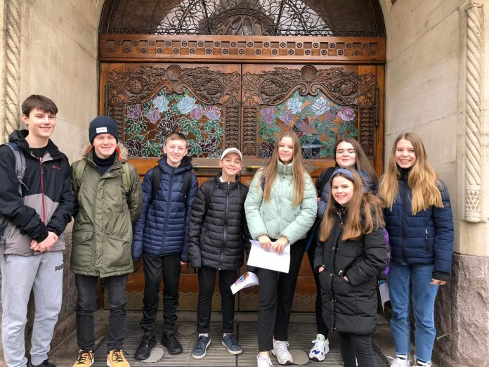 Ysgol Bryn Alyn pupils on their recent trip to Denmark