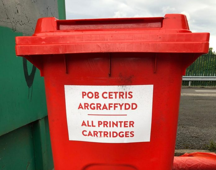 Recycle your used ink cartridges at our recycling centres
