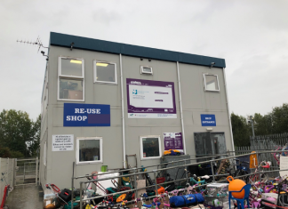 Re-use shop, Bryn Lane Recycling Centre