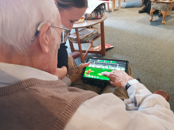 Residents are getting to know RITA in care homes across Wrexham